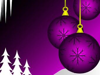 Addobbi di Natale viola
