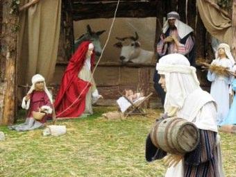 Nascita del bambin Gesu' il giorno di Natale